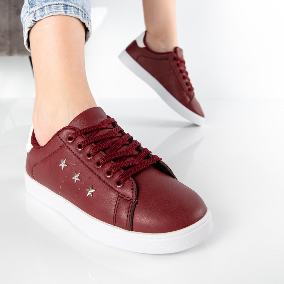 "Pantofi Sport ""MireaFashion"" Cod: A1812-4 WINE RED (N06)"