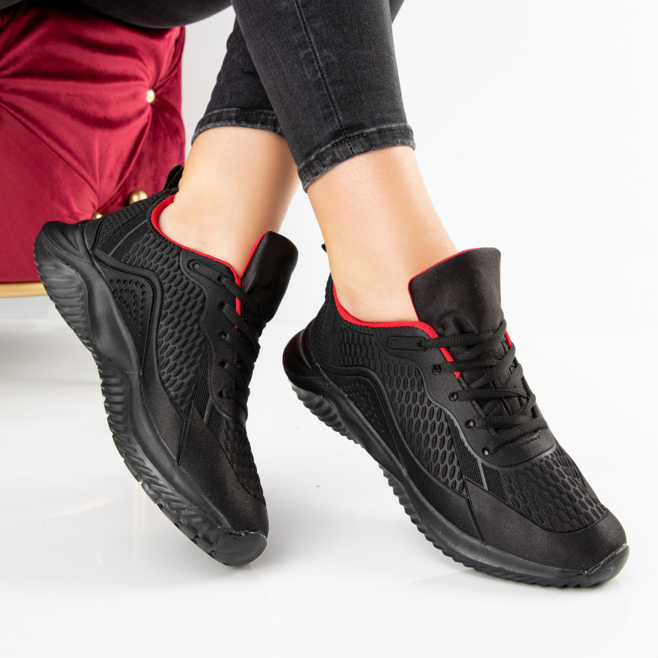 "Pantofi Sport ""MireaFashion"" Cod: F11-2 BLACK/RED (A 05)"