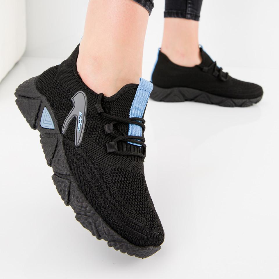 "Pantofi sport ""MireaFashion"" Cod: HQ-202-233 BLACK/W.BLUE (A01)"