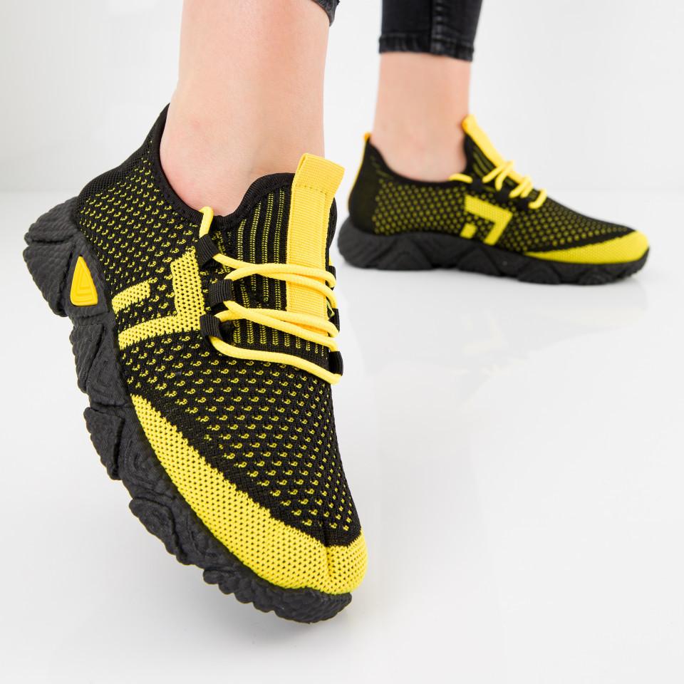 "Pantofi sport ""MireaFashion"" Cod: HQ-203-239 BLACK/YELLOW (N05)"