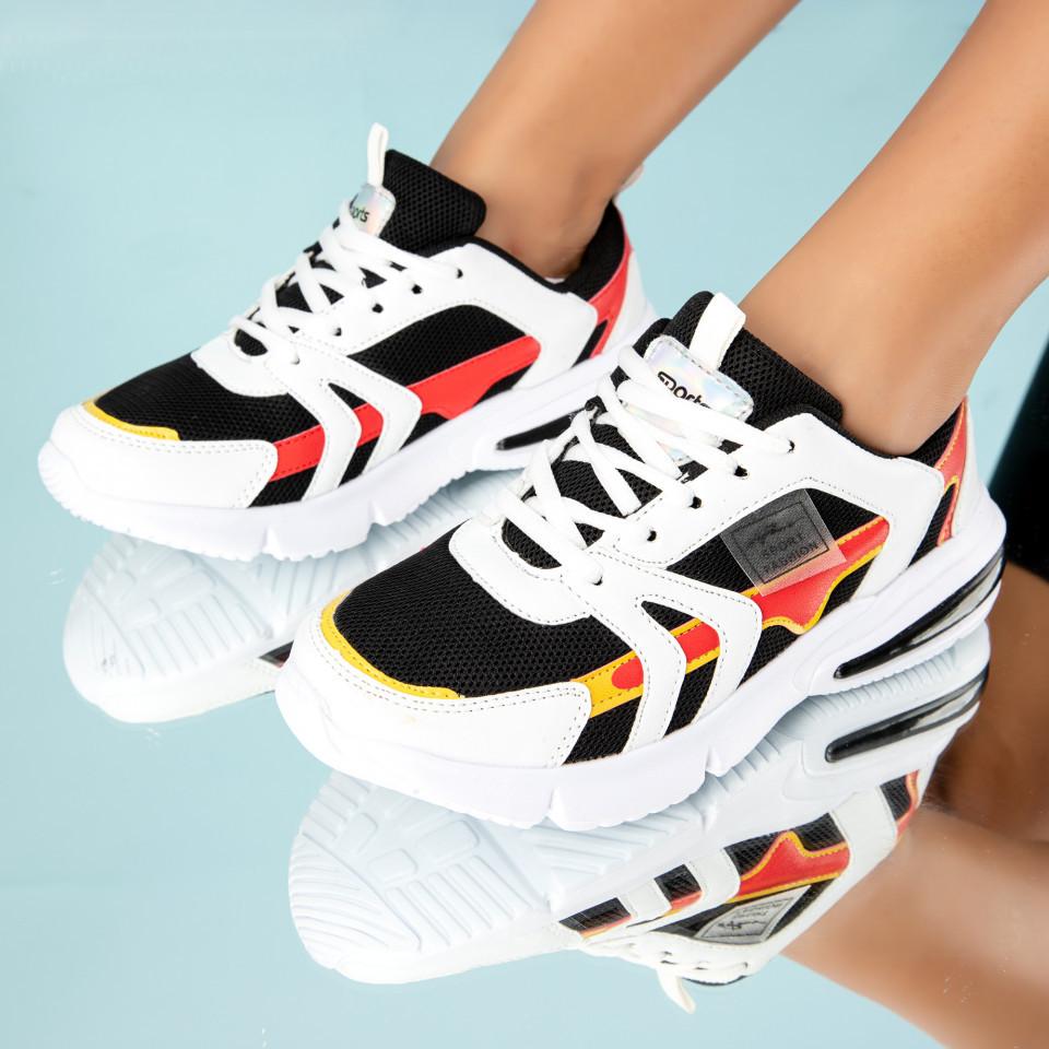 "Pantofi Sport ""MireaFashion"" Cod: HQ726 WHITE/BLACK(U 06)"