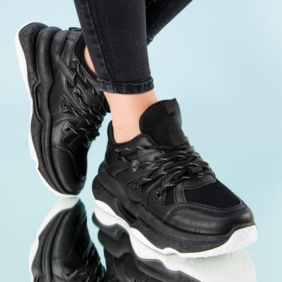 "Pantofi sport ""MireaFashion"" Cod: W6615 BLACK (H05)"