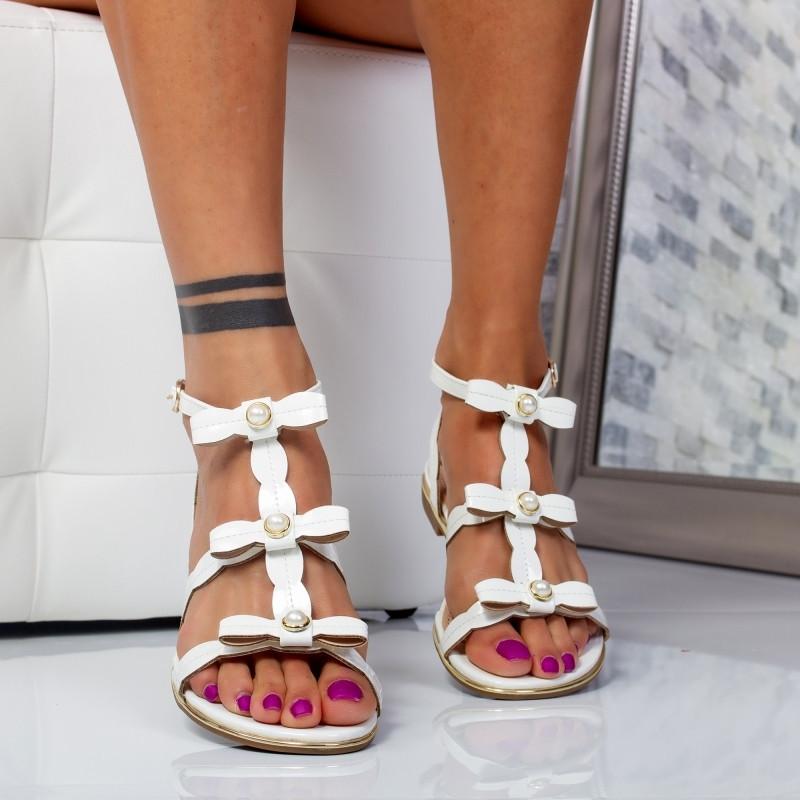 """Sandale """"Mirea Fashion"""" Cod: 716-1 White (B010)"""