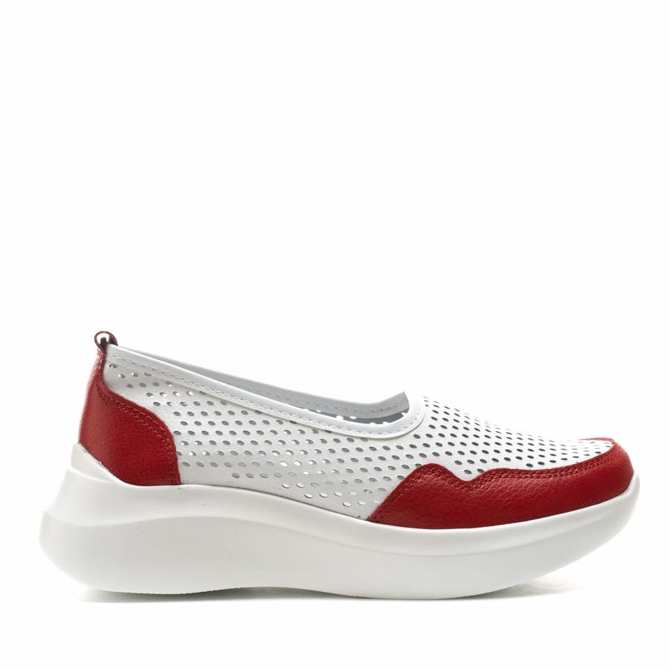 Pantofi dama Cod: XH-2045 WHITE/RED (G04)