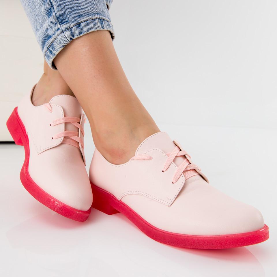 "Pantofi ""MireaFashion"" Cod: 6335-1E PINK (Q02)"