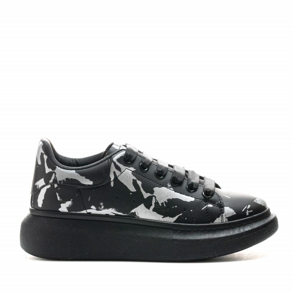 Pantofi Sport Cod: 6608-2 BLACK/SILVER (E010)