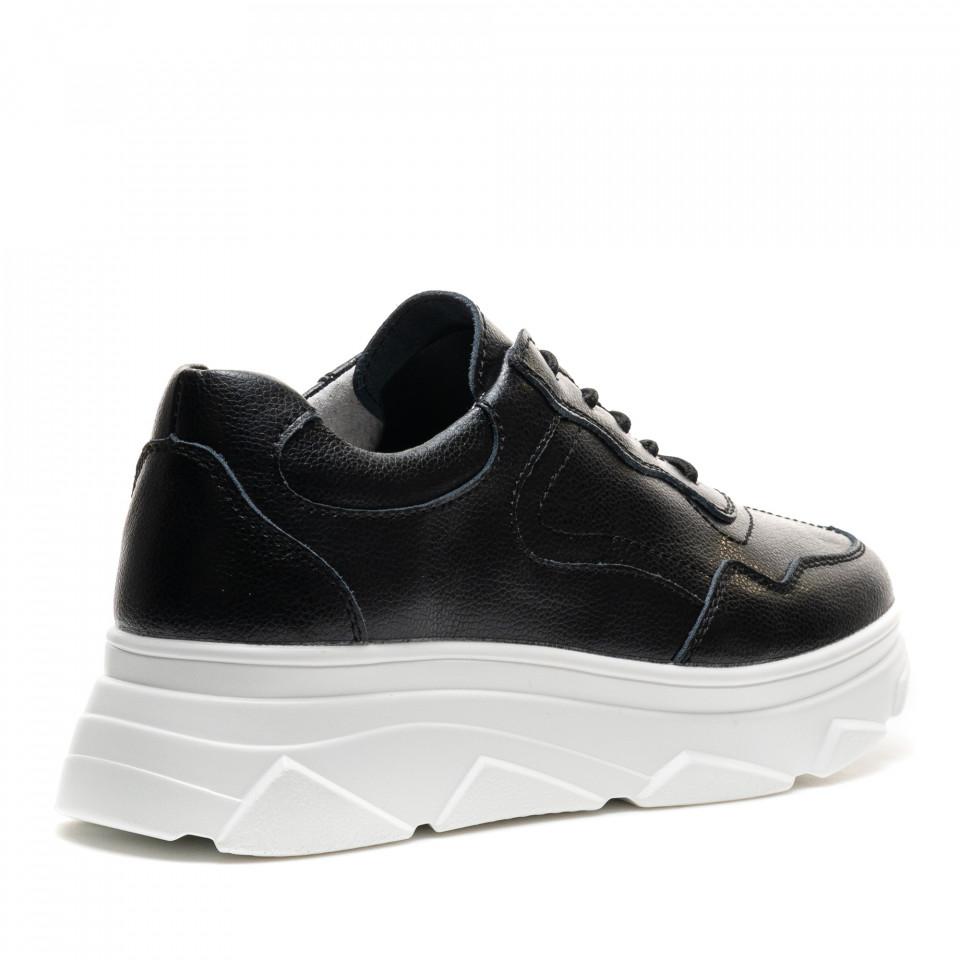 Pantofi Sport Cod: AW101 BLACK LEATHER (C 09)