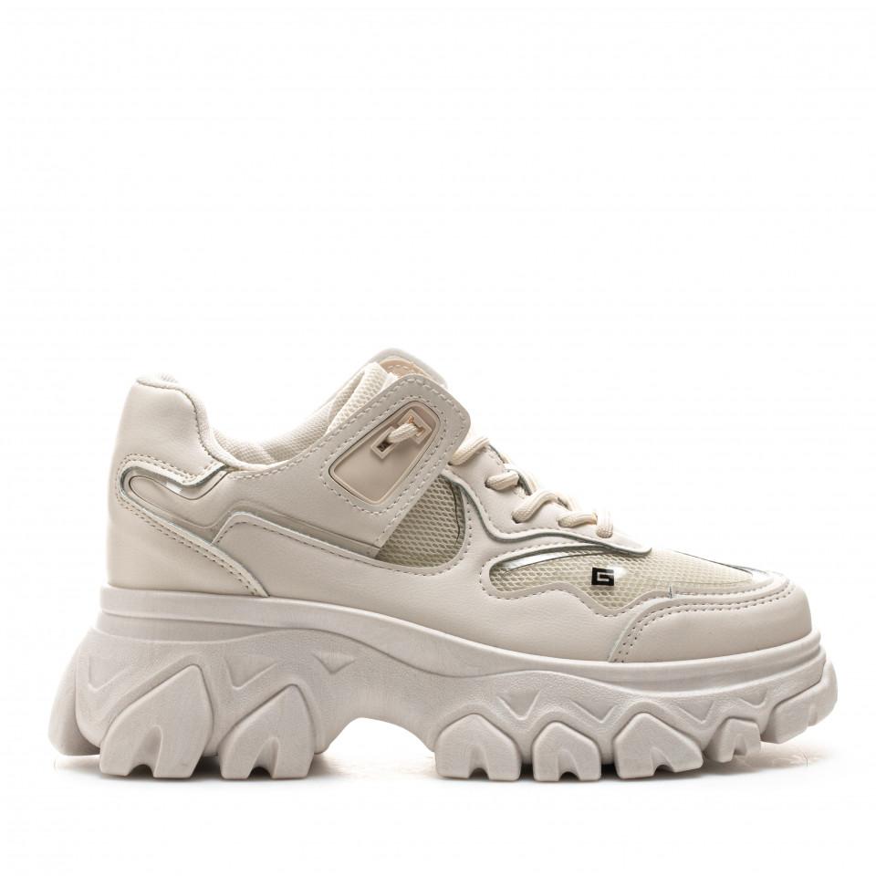 Pantofi Sport Cod: F01 BEIGE (J01)