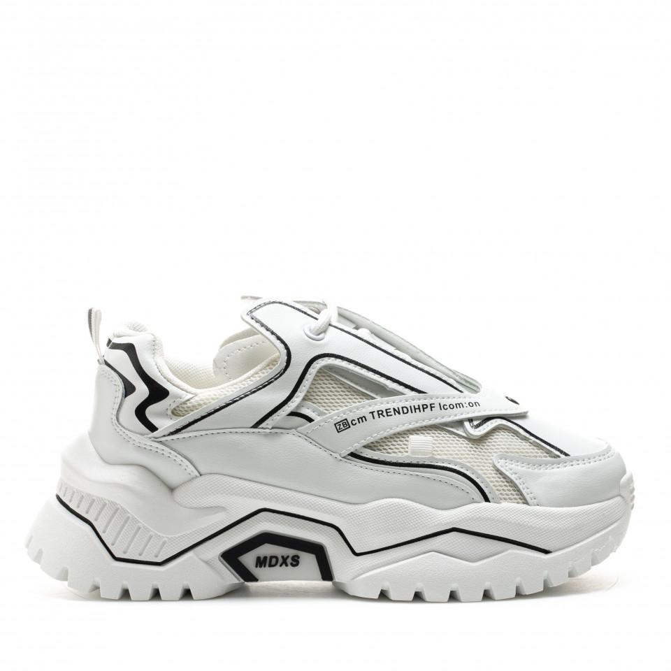 Pantofi Sport Cod: K01-2 WHITE (D04)