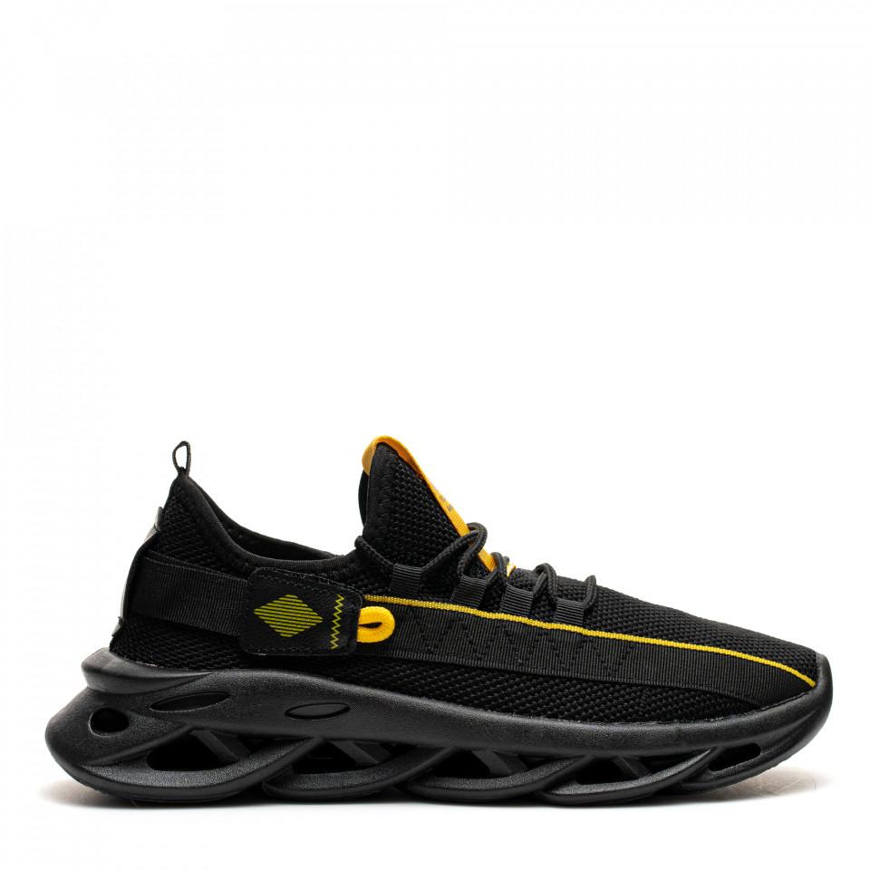 Pantofi Sport Cod: LM050 BLACK/YELLOW (F03)