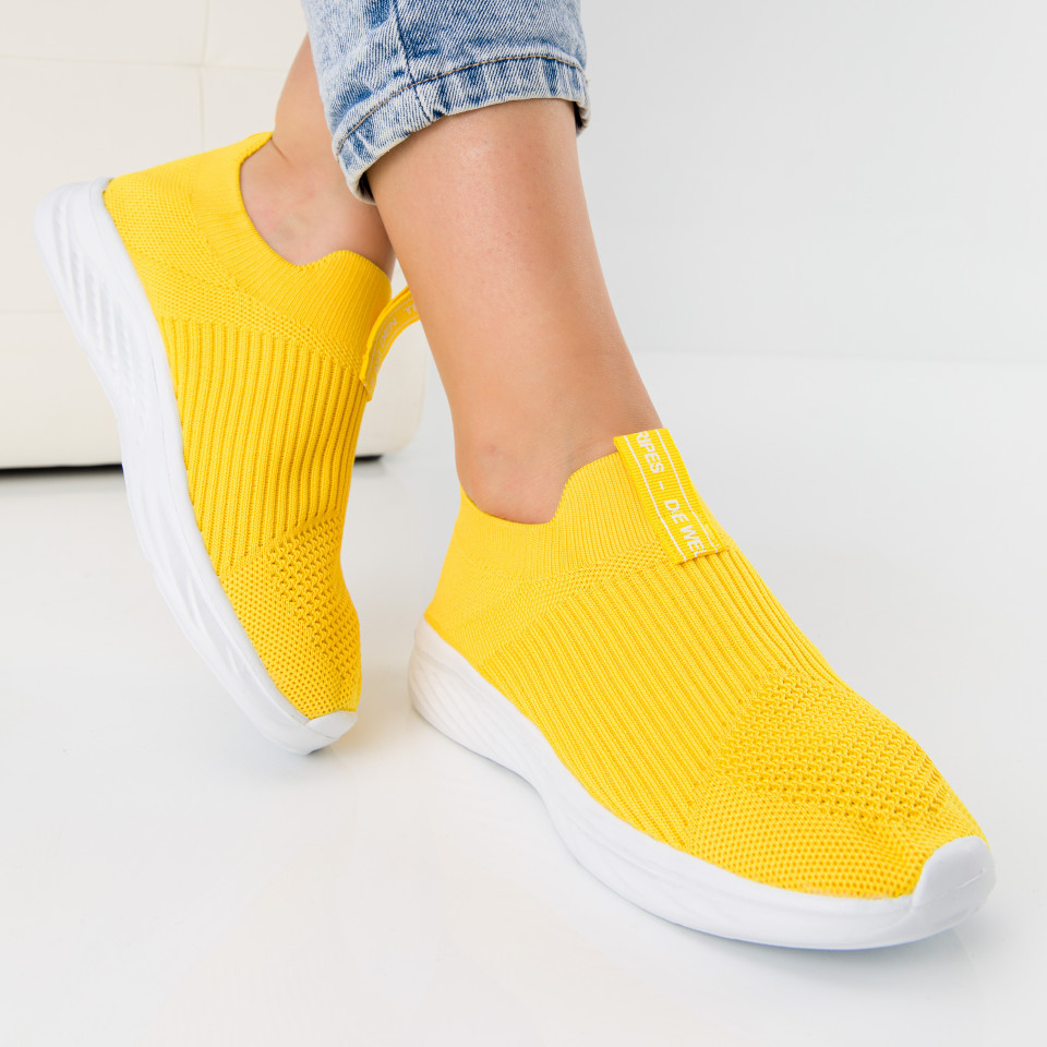 "Pantofi sport ""MireaFashion"" Cod: 128 YELLOW (G06)"