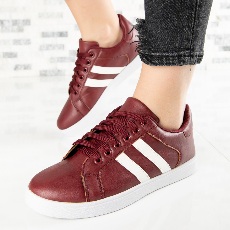 "Pantofi Sport ""MireaFashion"" Cod: A1803-4 WINE RED (C 02)"