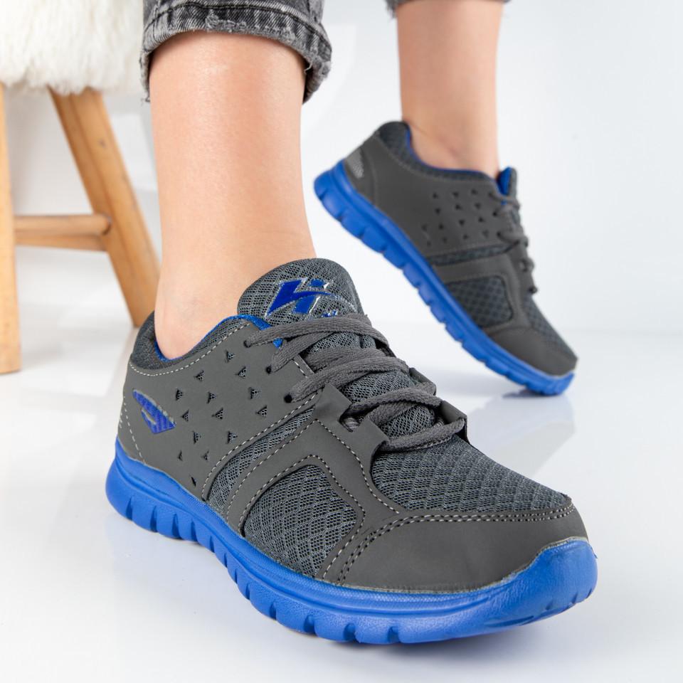 """Pantofi Sport """"MireaFashion"""" Cod: B503 GREY/BLUE (S03)"""