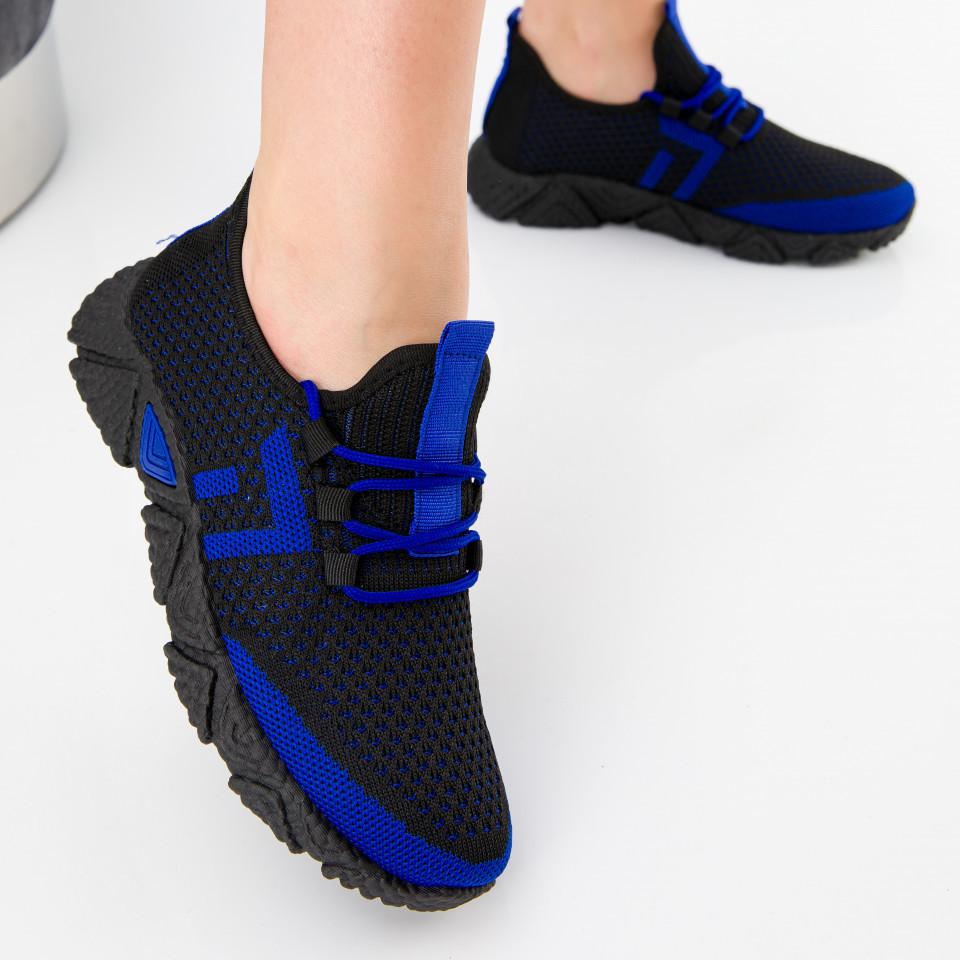 "Pantofi sport ""MireaFashion"" Cod: HQ-203-240 BLACK/BLUE (N01)"
