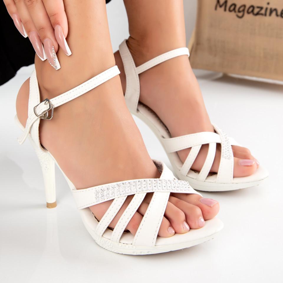 "Sandale ""MireaFashion"" Cod: 2013-8 WHITE (B06)"