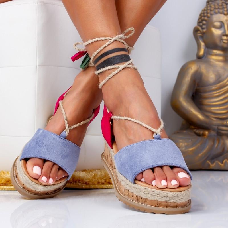 "Sandale ""MireaFashion"" Cod: H8-186 BLUE (V04)"