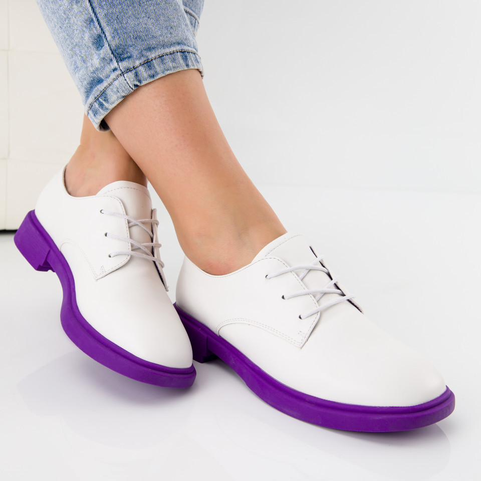 "Pantofi ""MireaFashion"" Cod: A028 WHITE (F05)"