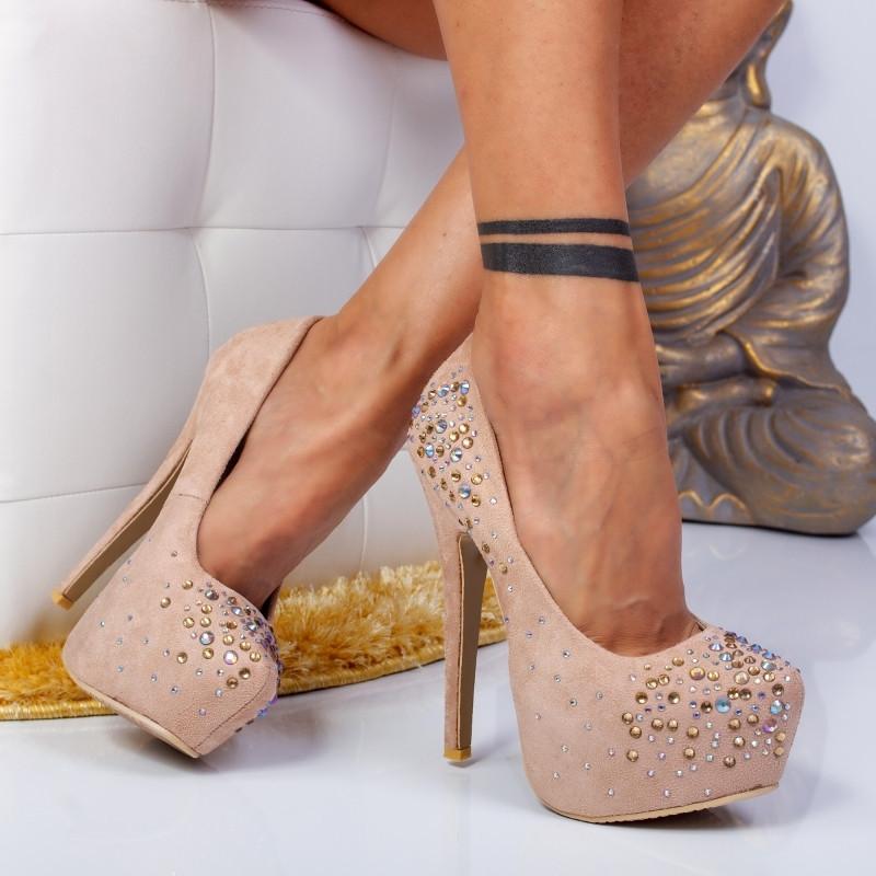"""Pantofi """"MireaFashion"""" Cod: OL-2500-1 Apricot (N01-K06)"""