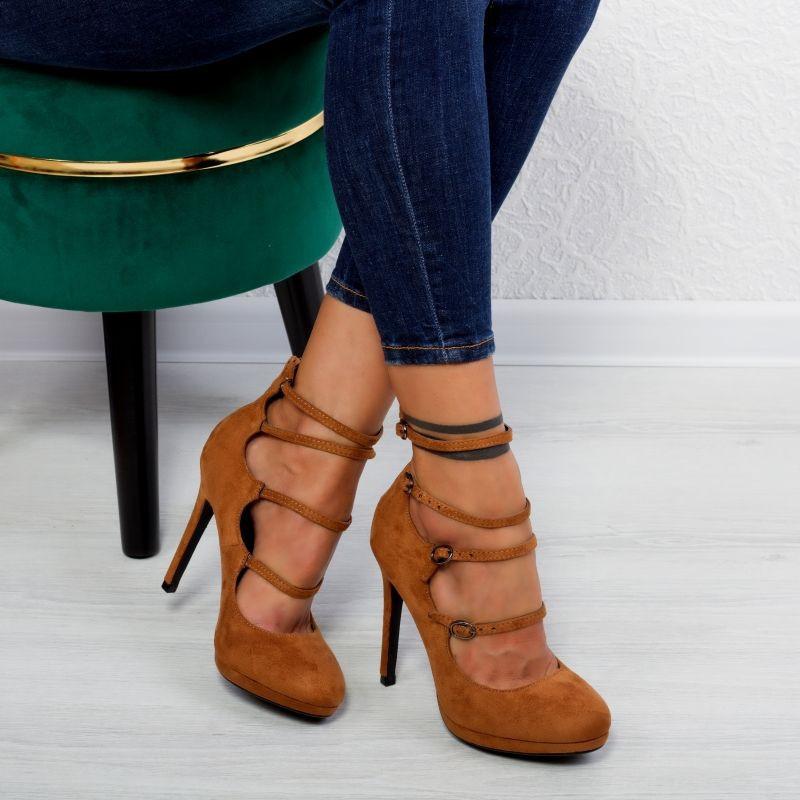 "Pantofi ""MireaFashion"" Cod: XQ98905 CAMEL (B014)"