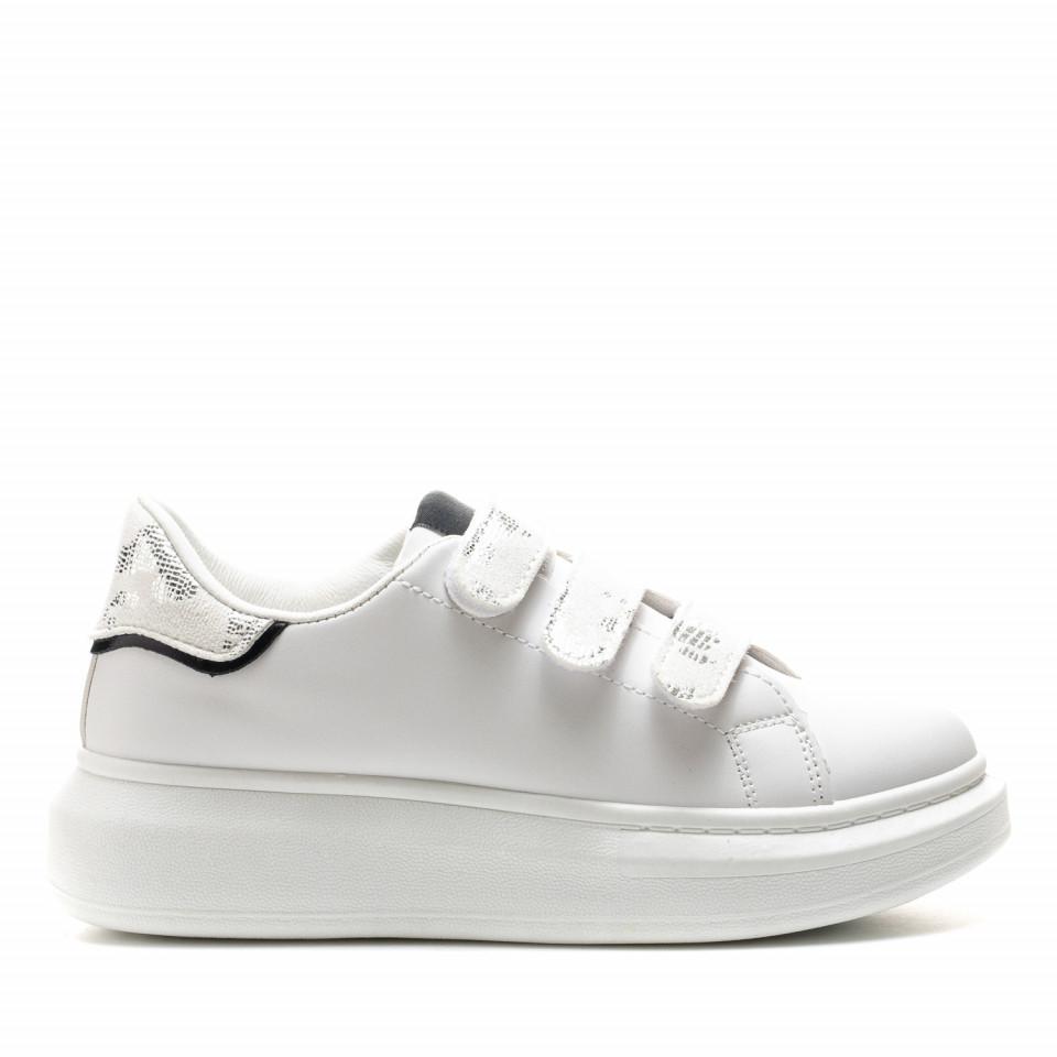 Pantofi Sport Cod: B-21 WHITE (H01)(E09)