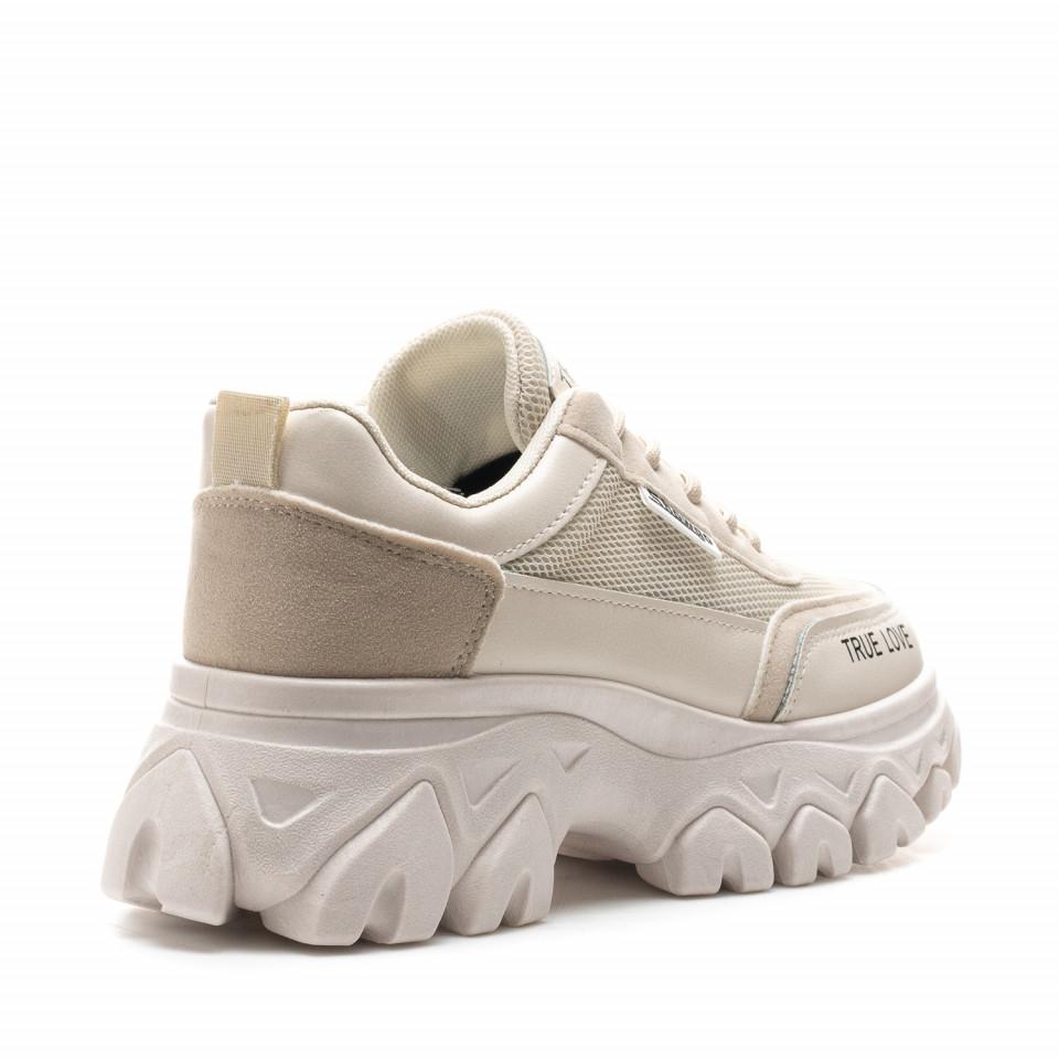 Pantofi Sport Cod: F02 BEIGE (i 02)
