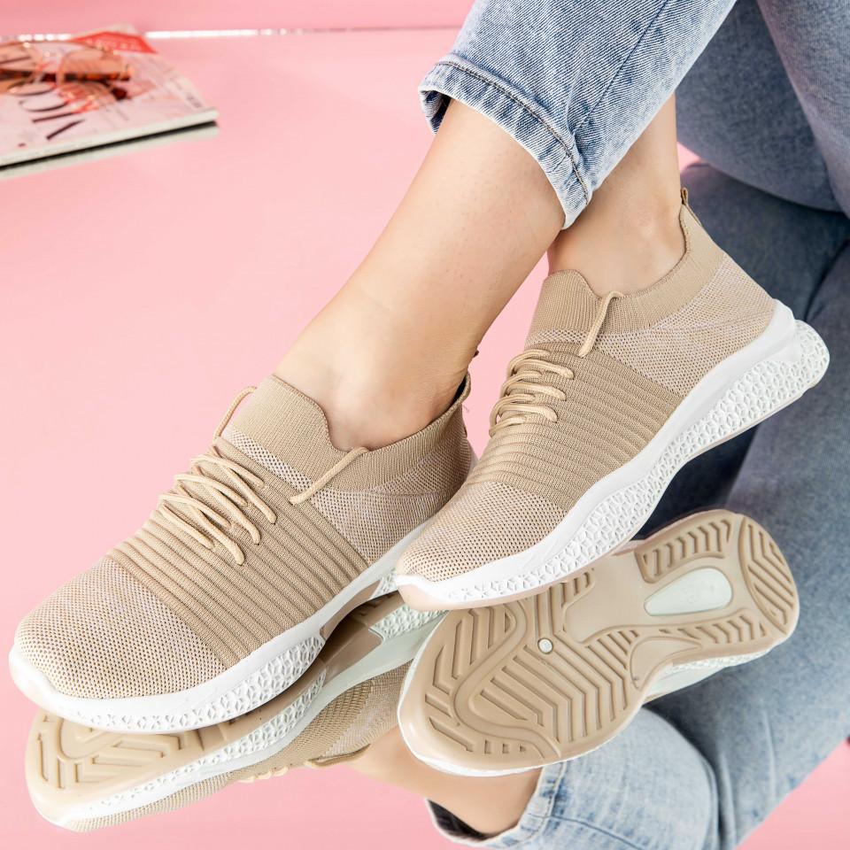 "Pantofi sport ""MireaFashion"" Cod: 0105-5 BEIGE (N2)"