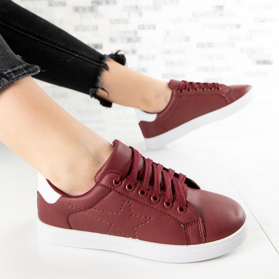 "Pantofi Sport ""MireaFashion"" Cod: A1813-4 WINE RED (C012)"
