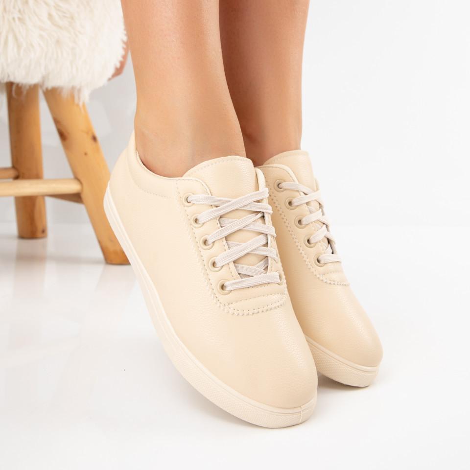 "Pantofi sport ""MireaFashion"" Cod: D10-4 BEIGE (A 09)"