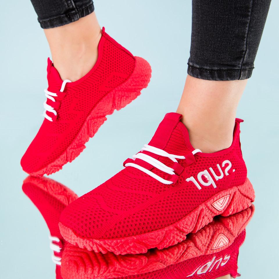 "Pantofi sport ""MireaFashion"" Cod: HQ-201-227 RED/WHITE (B014)(E05)"