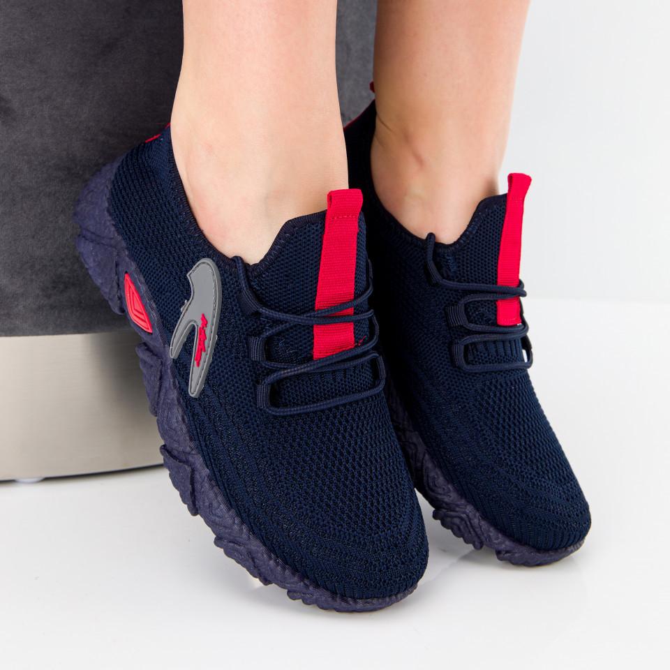 "Pantofi sport ""MireaFashion"" Cod: HQ-202-237 NAVY/RED (G05)"