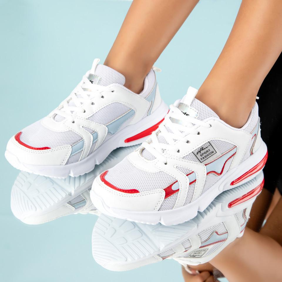 """Pantofi Sport """"MireaFashion"""" Cod: HQ726 WHITE/RED (F04- A 08)"""