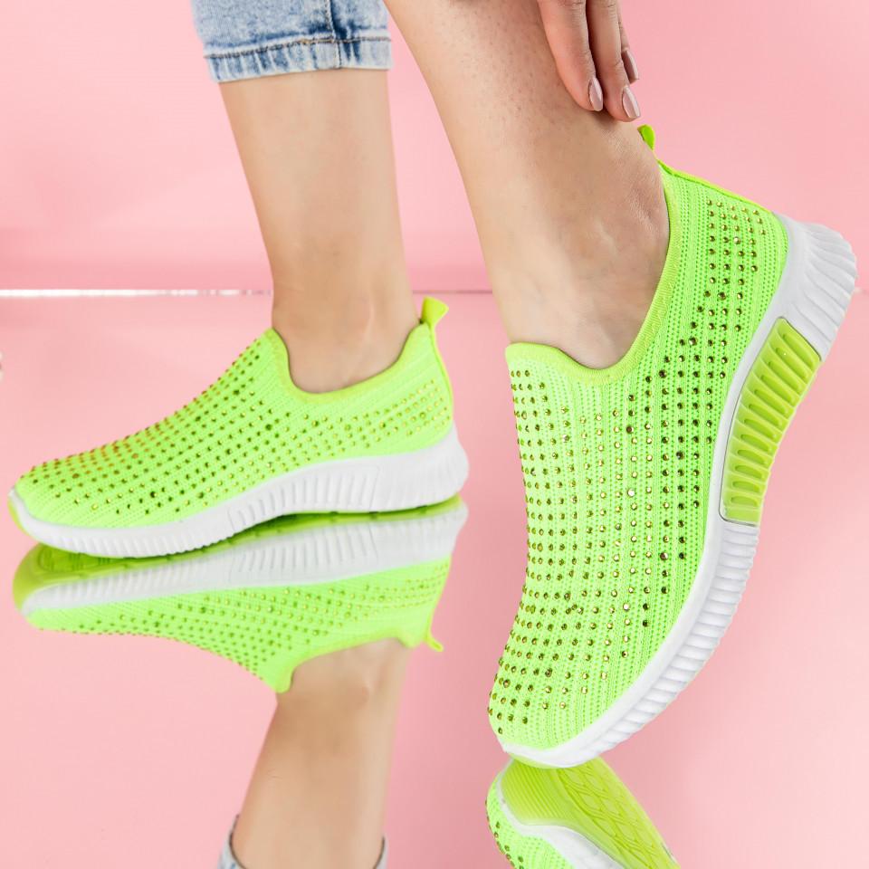 "Pantofi sport ""MireaFashion"" Cod: J122 GREEN (B05)"
