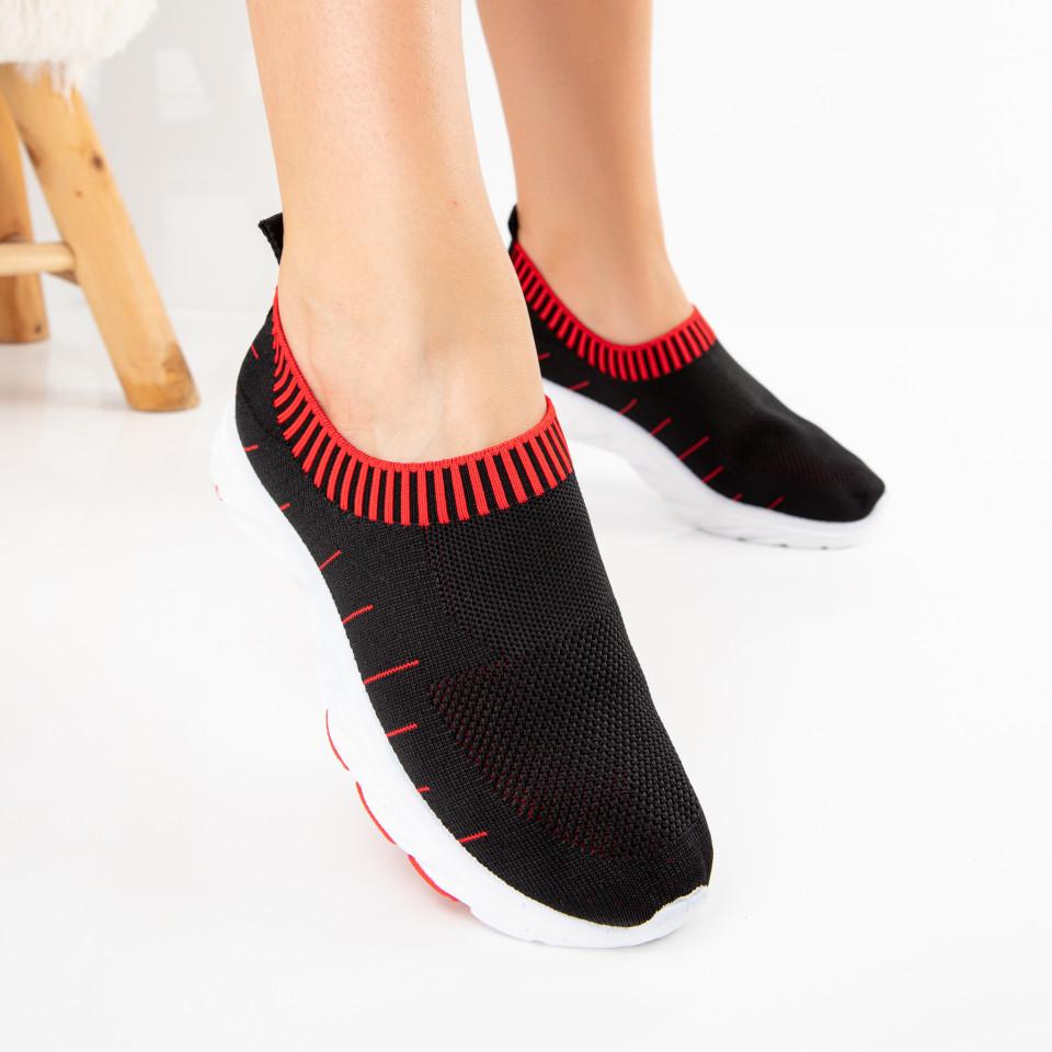 """Pantofi Sport """"MireaFashion"""" Cod: M28-2 BLACK/RED (B07)"""