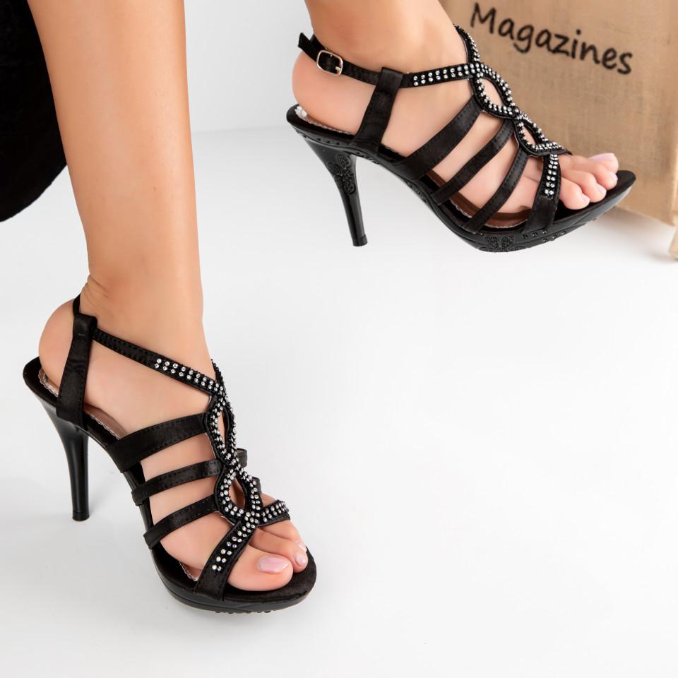 "Sandale ""MireaFashion"" Cod: 2013-7 BLACK (M 01)"