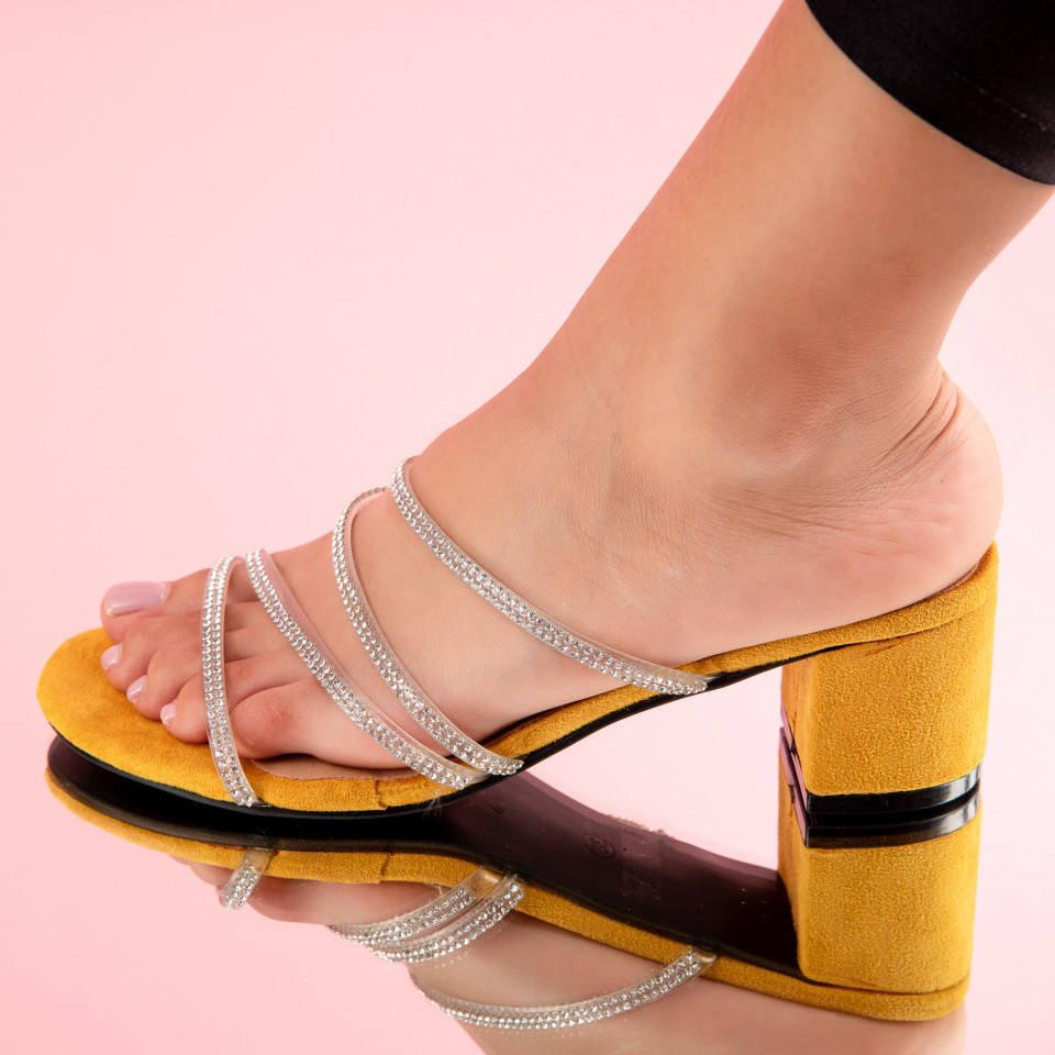 "Sandale ""MireaFashion"" Cod: PH8051-3 YELLOW (C 011)"