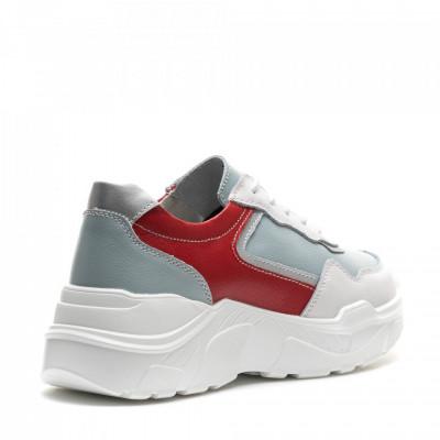 Pantofi Sport Cod: AW118 RED+BLUE LEATHER (J02)