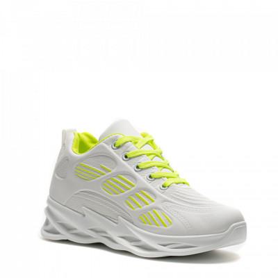 Pantofi Sport Cod: HQ-092-018 WHITE F.GREEN (E012)