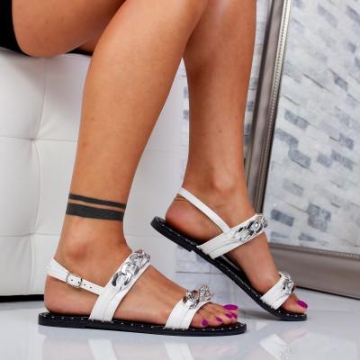"Sandale ""MireaFashion"" Cod: 8336-20 WHITE (C 01)"