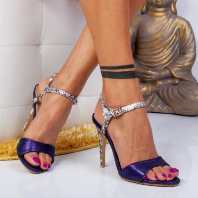 """Sandale """"MireaFashion"""" Cod: GRS-A62 BLUE (B010)"""