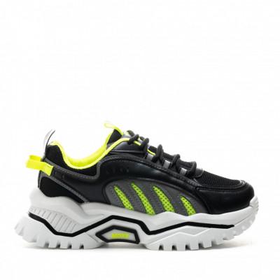 Pantofi Sport Cod: 61-1 BLACK (D04)