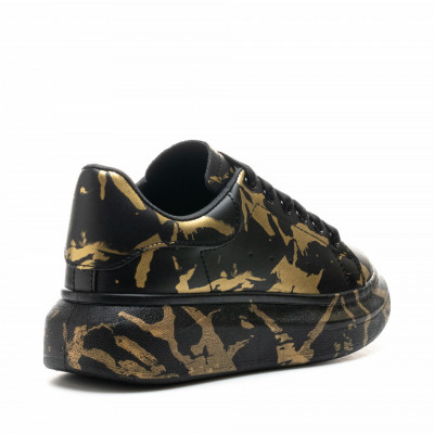 Pantofi Sport Cod: 6608-3 BLACK/GOLDEN (J01-H04)