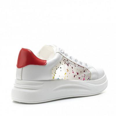 Pantofi Sport Cod: C91 WHITE/RED (i 01)