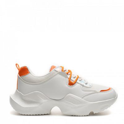 Pantofi Sport Cod: HQ-M15 WHITE/ORANGE (H01)