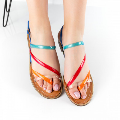 "Sandale ""MireaFashion"" Cod: PM11-3 BLUE (G07)"