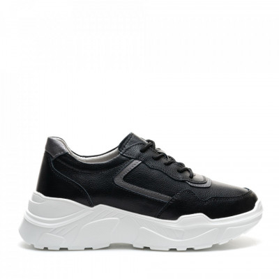 Pantofi Sport Cod: AW118 BLACK LEATHER (I 02)