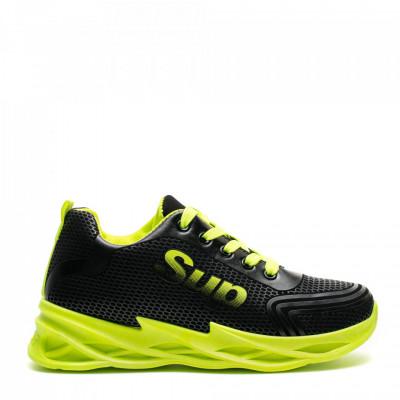 Pantofi Sport Cod: HQ-090-006 BLACK F. GREEN (F04)