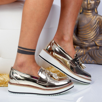 "Pantofi ""MireaFashion"" Cod: 7A131 GOLD (M 01)"