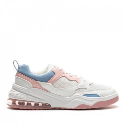Pantofi Sport Cod: AB01 WHITE/PINK (I 01)