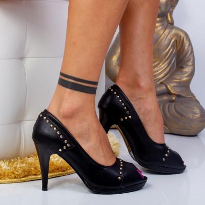 "Pantofi ""MireaFashion"" Cod: TM3588-2 BLACK (D06)"