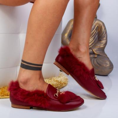 "Pantofi ""MireaFashion"" Cod: HY-6613 WINE (A03-A 04)"